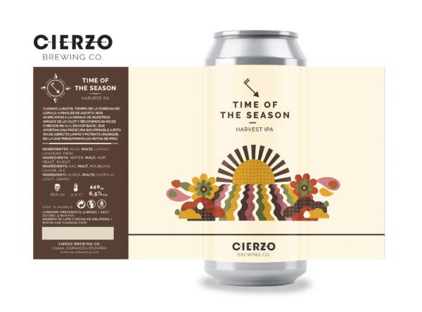 time of the season harvest ipa cerveza zaragoza